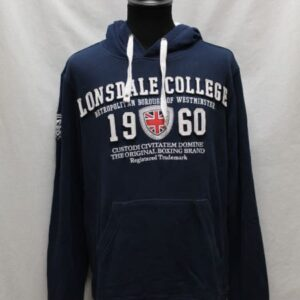 sweat sportswear capuche bleu marine lonsdale frip in shop