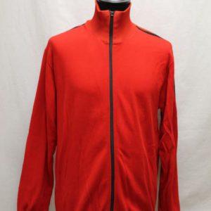 veste sportswear vintage rouge bandes noires frip in shop