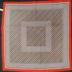 foulard carre rayures rouges blanches frip in shop