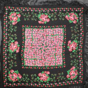 foulard franges fleurs frip in shop