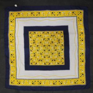 foulard vintage ancre marine frip in shop
