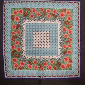 foulard vintage carre fleurs roses pois frip in shop