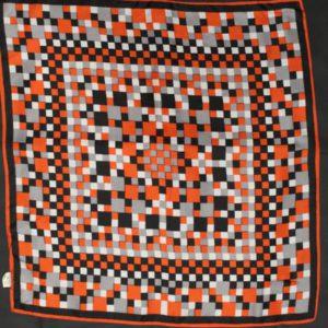 foulard vintage pixel carreaux frip in shop