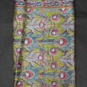 foulard vintage plume de paon frip in shop