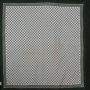 foulard vintage pois blanc kaki frip in shop