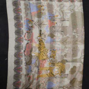 foulard vintage tigre fleurs frip in shop