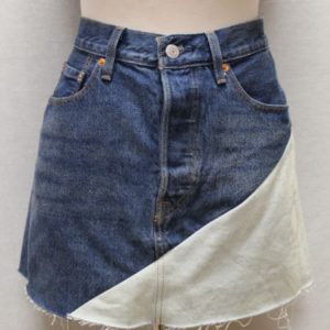 jupe jean bicolore levis frip in shop