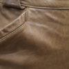 jupe vintage cuir marron detail frip in shop