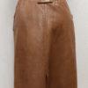 jupe vintage cuir marron dos frip in shop