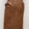 jupe vintage cuir marron frip in shop