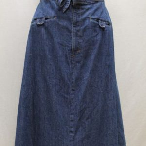 jupe vintage jean denim noeud frip in shop