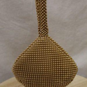 minaudiere a main perles dorees frip in shop