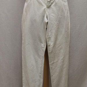pantalon vintage coupe boyfriend blanc bleu rayures frip in shop
