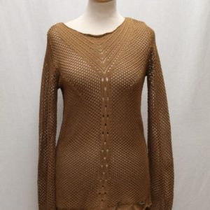 pull vintage crochet marron guess frip in shop