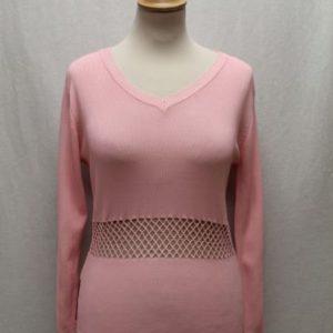 pull vintage rose bonbon crochet prada frip in shop