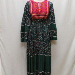 robe longue boheme plastron framboise frip in shop