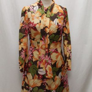 robe vintage a fleurs col lavalliere frip in shop