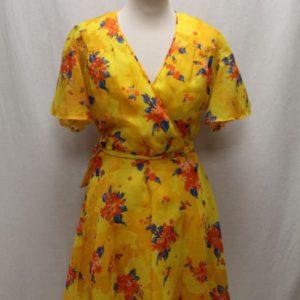 robe vintage cache coeur jaune a fleurs frip in shop