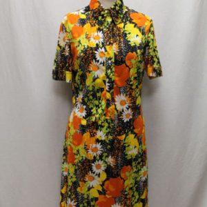 robe vintage fleurs hippie frip in shop