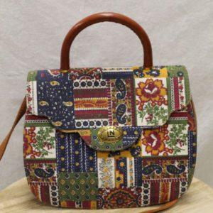 sac a main vintage imprime tapisserie frip in shop
