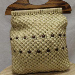 sac vintage tresse perles anse bois frip in shop