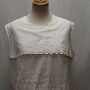 top vintage volant coton blanc broderie frip in shop