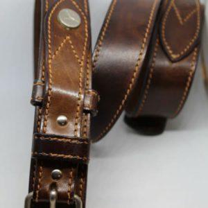 ceinture en cuir brun frip in shop