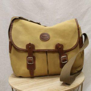 sac cartable bandouliere jaune beige cuir marron frip in shop