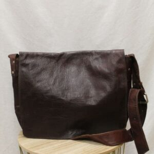 sac cartable cuir marron frip in shop