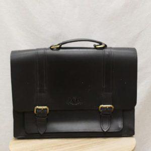sac cartable cuir noir frip in shop
