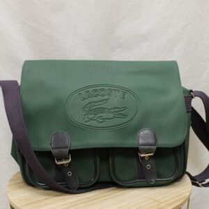 sac cartable vert lacoste frip in shop