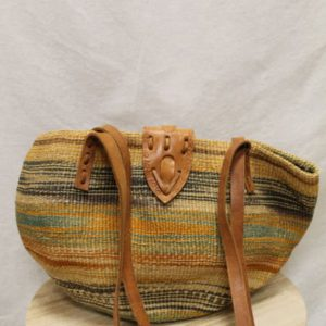 sac fourre tout paille rayures detail2 frip in shop