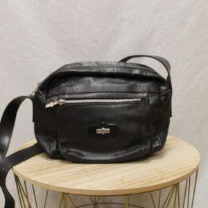 sac vintage en cuir noir el campero frip in shop