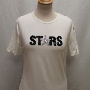 t-shirt vintage blanc strass dolce and gabbana frip in shop