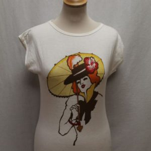 t-shirt vintage blanc visage frip in shop