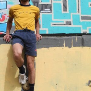 short sportswear bleu marine logo rouge nike frip in shop