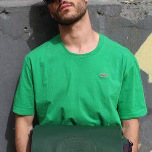 t-shirt sportswear vert sapin lacoste frip in shop