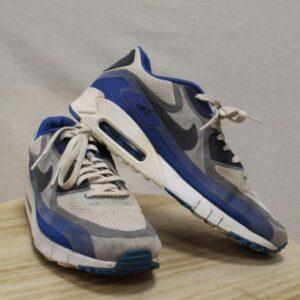 chaussures nike air max blanc bleu frip in shop