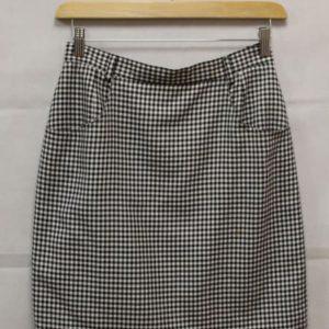 jupe courte droite carreaux noirs blancs frip in shop