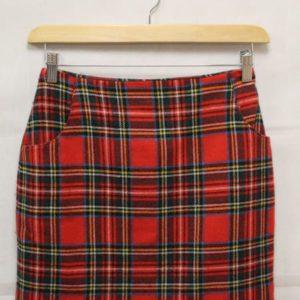 jupe courte tartan rouge frip in shop