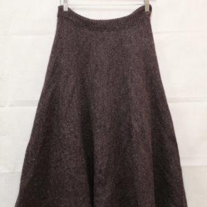 jupe mi longue en laine prune frip in shop