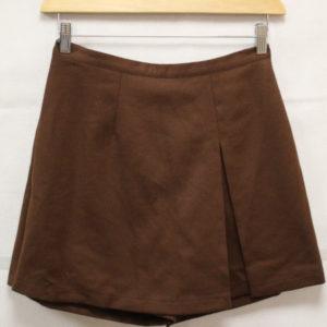 jupe short vintage laine marron frip in shop