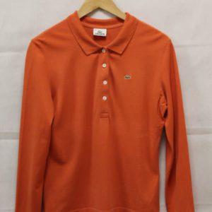 polo femme orange lacoste frip in shop