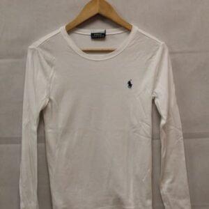t-shirt manches longues blanc ralph lauren frip in shop