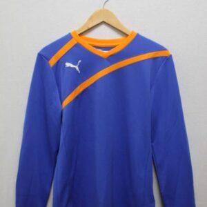 t-shirt puma bleu orange manches longues frip in shop