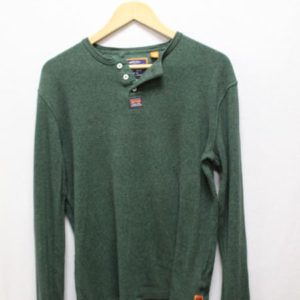 t-shirt superdry vert manches longues frip in shop