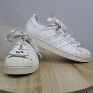 baskets adidas blanches et noires frip in shop