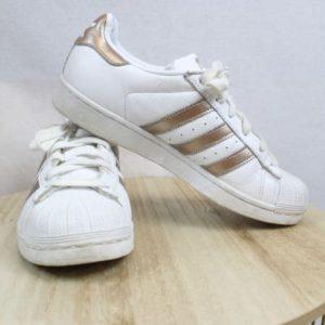 baskets adidas superstar blanches dores frip in shop