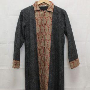 manteau gris inspiration inde frip in shop