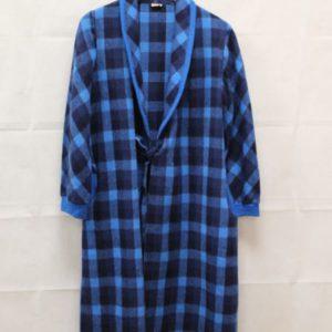 manteau peignoir a carreaux bleus frip in shop